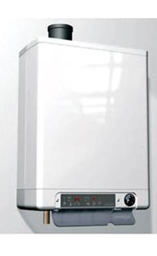 ACV Prestige Kombi Kompakt HRE 18/24 con con soporte, regleta de conexiones y kit salida de humos. (caldera para gas natural mural estanca mixta condensación)