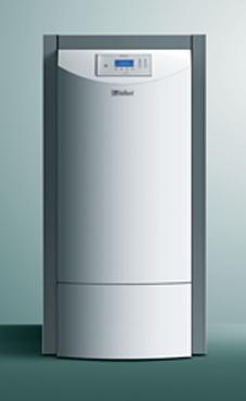 VAILLANT RENERVIT VKP 302-3 caldera de pie de pellets de 6-30 KW, solo calefacción, encendido automático, para sistema de carga mediante aspiración con depósito intermedio de 150 litros (caldera para biomasa de pellets)