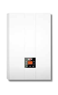 WOLF FGB-K 35  de 35 KW  con llaves y kit salida de gases horizontal. (caldera para gas natural mural estanca mixta condensación)
